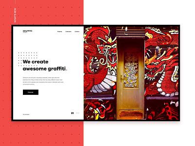 Graffiti Brothers web design landing web brand ui ux design