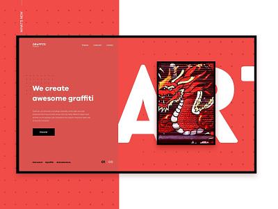 Graffiti Brothers web design landing web brand ux ui design