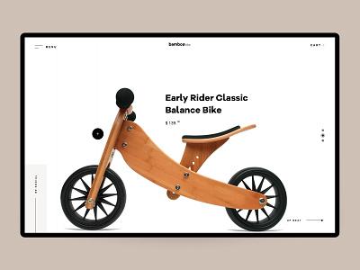 Bamboo bike web design landing web brand ui ux design