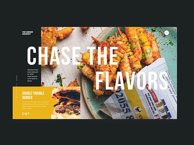 The Corner Gourmet food web design landing web ui ux design