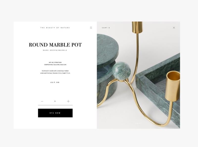 Home Decoration Shop onlineshop minimalistic homedecor web design landing web brand ui ux design