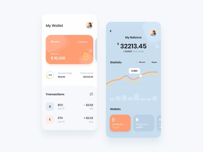 Cryptocurrency Wallet crypto bitcoin currency app ui design app ux app ui app design wallet app ux ui design