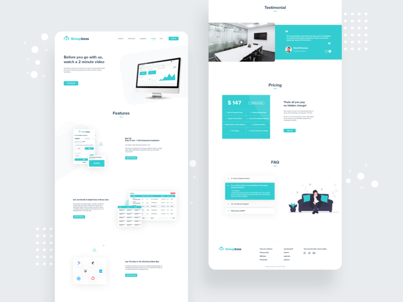 Website UI Design footer art vector web website web design landing page homepage illustration dashboard branding design clean interface ux ui ui design app