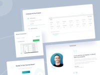 Time tracking landing UI components testimonial screenshot uidesign activity components card web ux ui tracker timesheet timeline time report project management project minimal dashboard analytics app