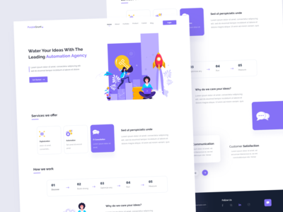 Automation Agency - Landing Page 😊 character purple style art vector illustration product design colors website webdesign web design design uidesign ui layout interface landing page landing creative clean