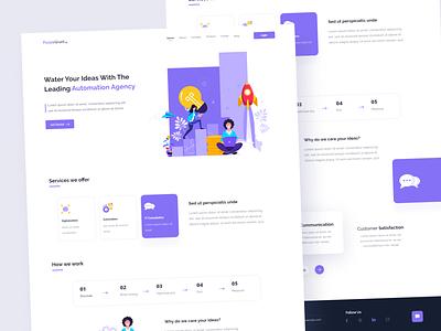 Automation Agency - Landing Page 😊 character purple style art vector illustration product design colors website webdesign web design design uidesign ui layout interface landing page landing creative clean