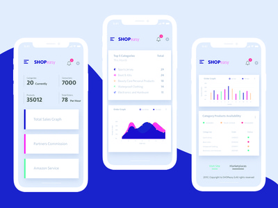 e-commerce dashboard mobile app design