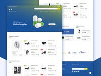 Health products ecommerce website