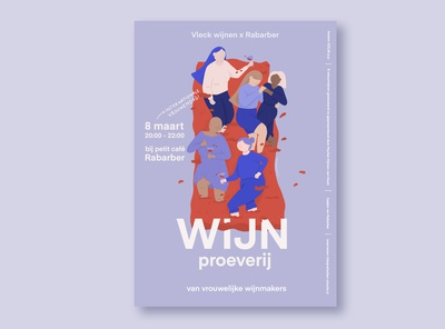 International women's day wine tasting poster