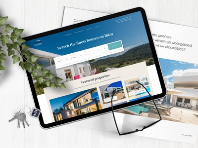 Ibiza Estates - redesign for Ibiza real estate broker real estate ibiza clean minimal corporate design design interfacedesign visual design ux ui