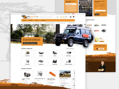 Webdesite for 4x4 Offroad car specialist car offroad 4x4 corporate design interfacedesign clean illustration design ux ui visual design
