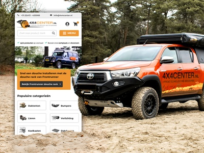 Mobile setup for 4x4 Offroad vehicle specialist design uxdesign offroad 4x4 website uxui ui ux visual design mobile design mobile