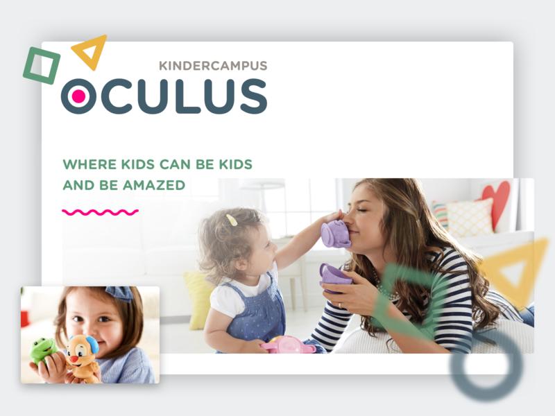 Kindercampus Oculus visual design ui ux branding