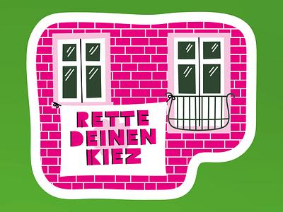 Green politics fight politics greenpolitics realestate house rent kiez climate design illustrator illustration vector