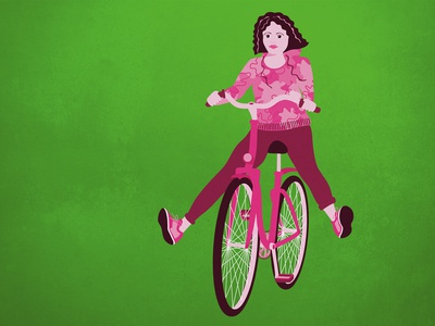 Illustration Bicycle Rider