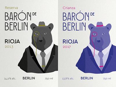 Illustration Wine Label wine rioja reserva label crianza berlin bear design vector illustrator illustration