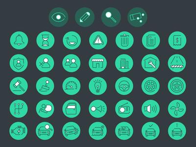 Illustration Car Icons