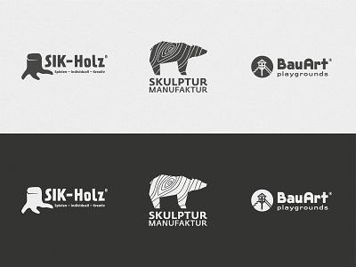 Brandings corporate branding playground wood typography logo branding design vector illustrator