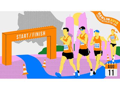 Race Walking Illustration championship european podcast athletes race walking race berlin sport athletics animation design illustration vector illustrator