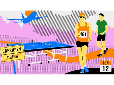 Race Walking Illustration