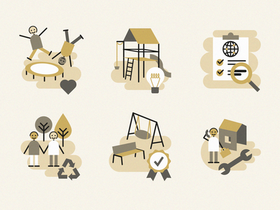 Multi Color Company Icons icon website protection children ideas competition fair service icons maintenance sustainability play playground check safety quality info graphic design illustration vector illustrator