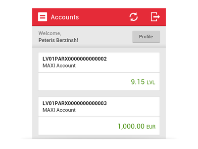 Online Banking Web App web app android ui