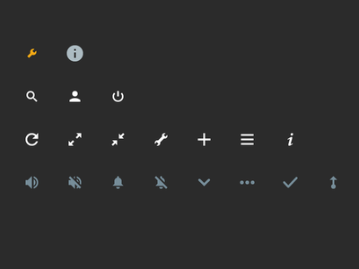 Monitoring Dashboad Icon Set svg web app dashboard ui icon