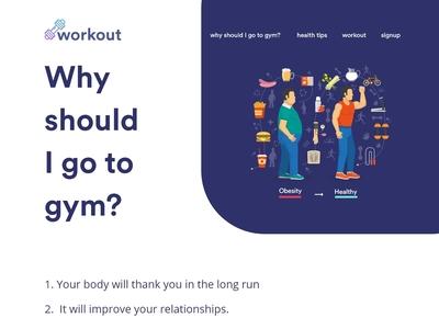 Workout Landing Page