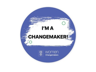 Women Changemakers brand design branding women in illustration design minimal icon badge design badges women empowerment womens day women