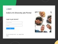 Diversity Job Portal signin page