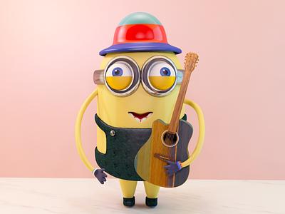 Minions ui guitar c4d