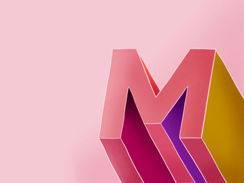 Multicolore font type 36daysoftype color design editorial illustration