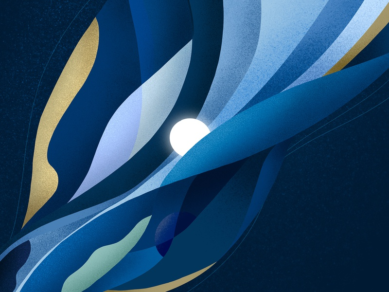 The Wave innovation light abstract nature wave submarine editorial illustration