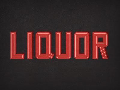 Liquor Type typography liquor alcohol custom