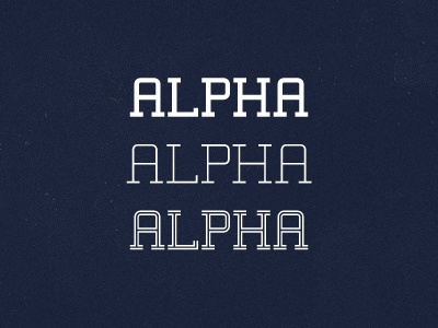 Alpha Typeface v1 typeface typography font