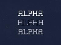 Alpha Typeface v1