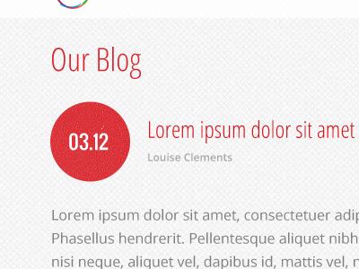 Blog/Site WIP website blog date