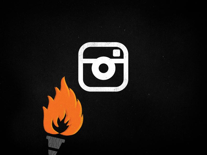 Burn Instagram, Burn. illustration flame camera blog