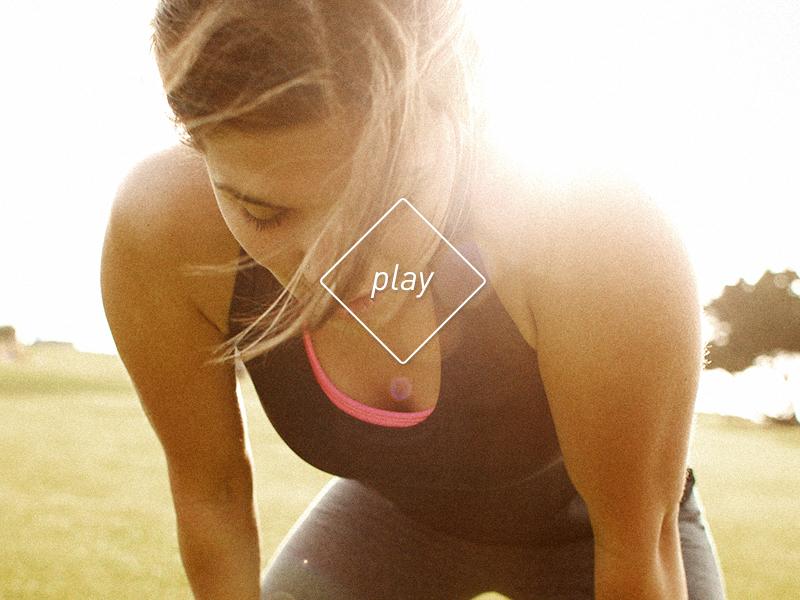 play play button diamond sport