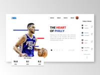 NBA Homepage Concept