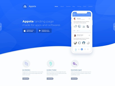 Landing Page Design single pager one page landing page design app design apps app landing page