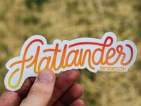 Flatlander Sticker