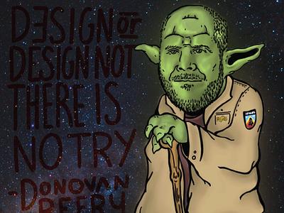 Jedi Master Designer Illustration starwars green illustration yoda jedi