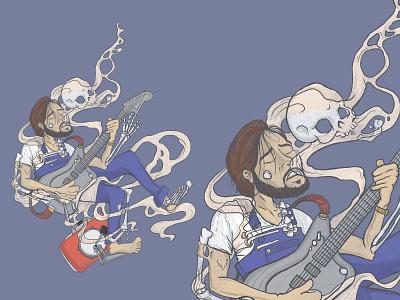 Shakey Graves custom design digital art digital illustration illustration