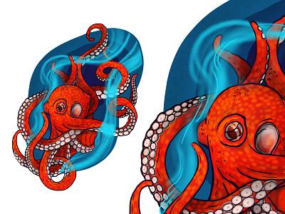 Octopus digitalart digital illustration illustration art drawing animal octopus illustration