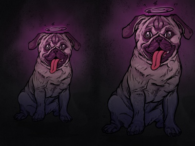 Pug digital illustration digital art dog illustration illustration animal dog pug