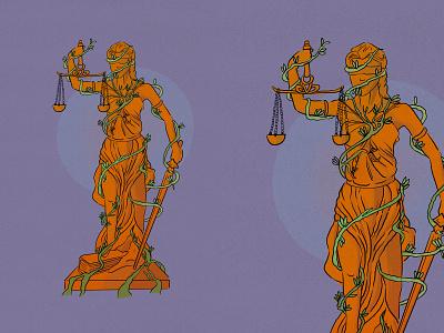 Lady Justice texture digitalart illustration digital illustration justice drawing statue