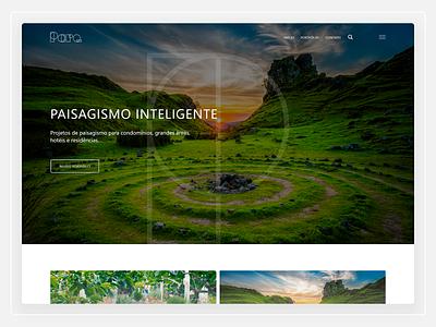 Parq Paisagismo - Website Design webdesign web design website user interface design ux design ui design user experience ux user interface ui