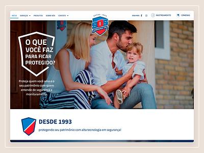 SOS Segurança Website webdesign web design website user interface design ux design ui design user experience ux user interface ui