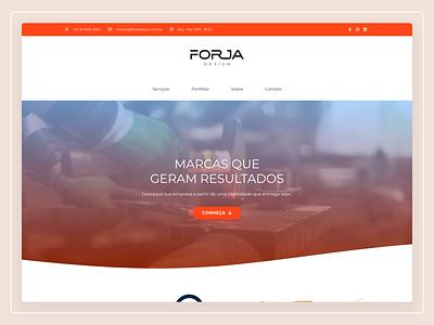 Forja - Website Design web design website user interface design ux design ui design user experience ux user interface ui